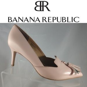 Banana Republic Avila Pink Leather Tassel Pumps 6